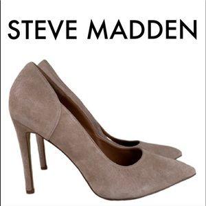 👑 STEVE MADDEN SUEDE HEELS 💯AUTHENTIC